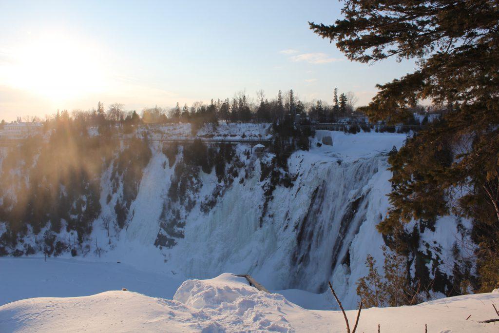 Point de vue de a chute Montmorency depuis le belvedère