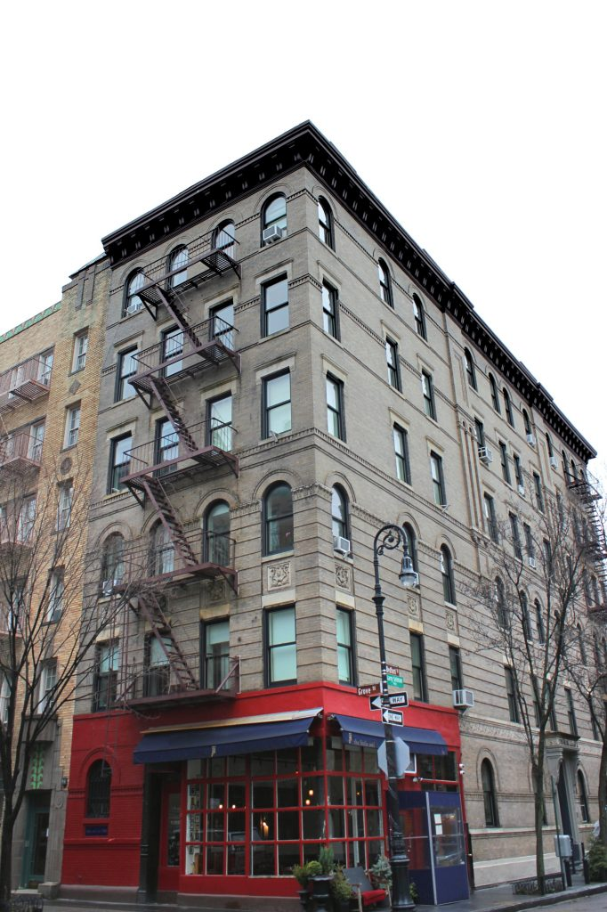 Façade de l'appartement de Friends au croisement Grove Street et Bedford Street