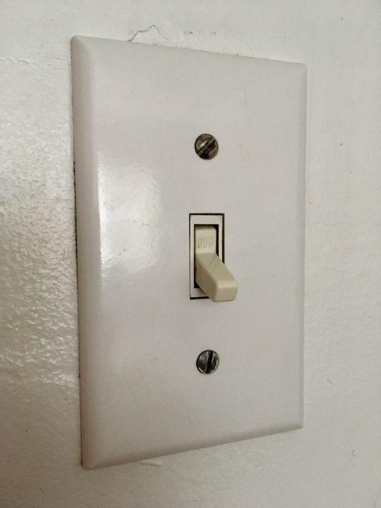 L'interrupteur typique pour allumer la lumière à montréal