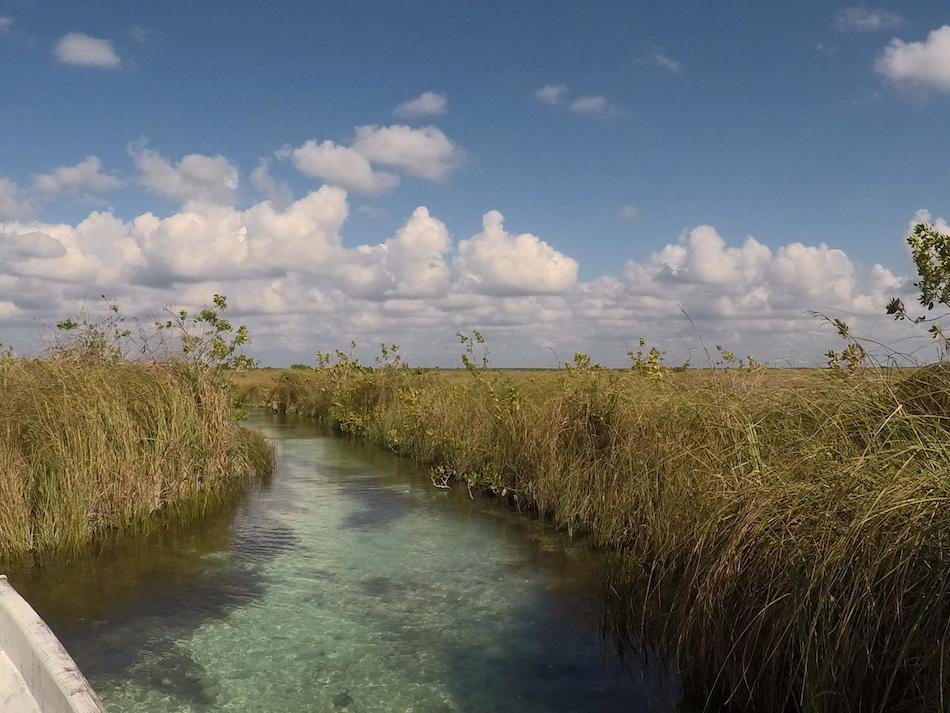 L'eau turquoise des canaux de la réserve de sian ka'an