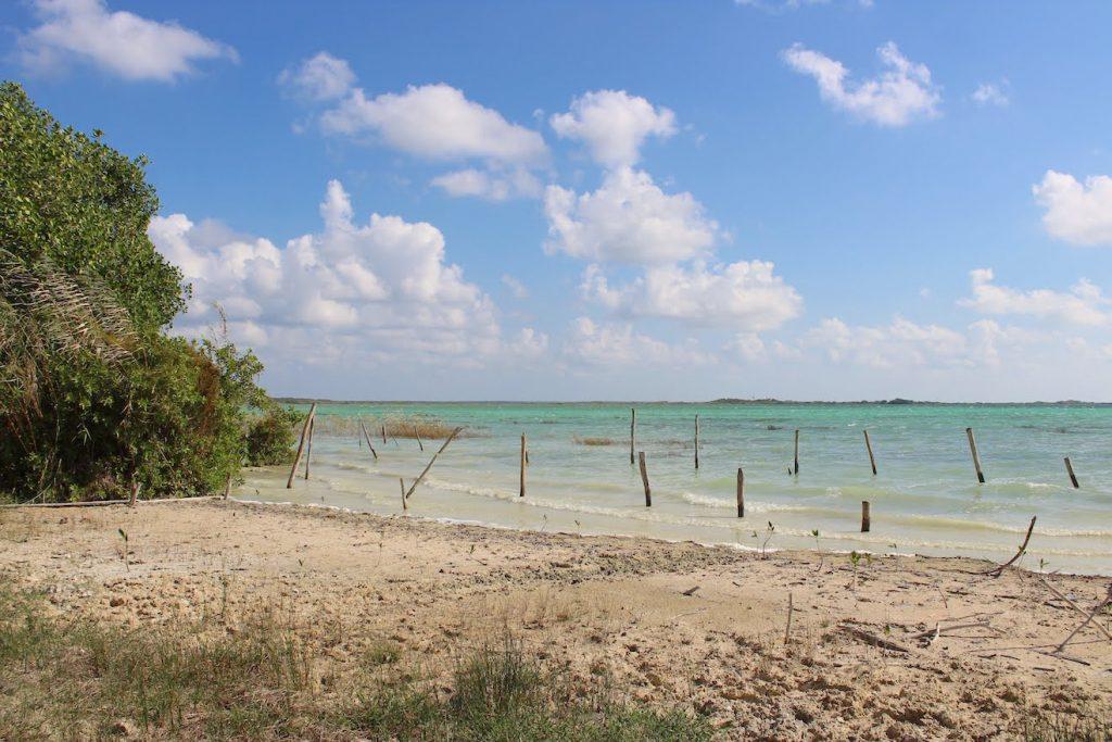 escale sur la plage déserte Boca Paila