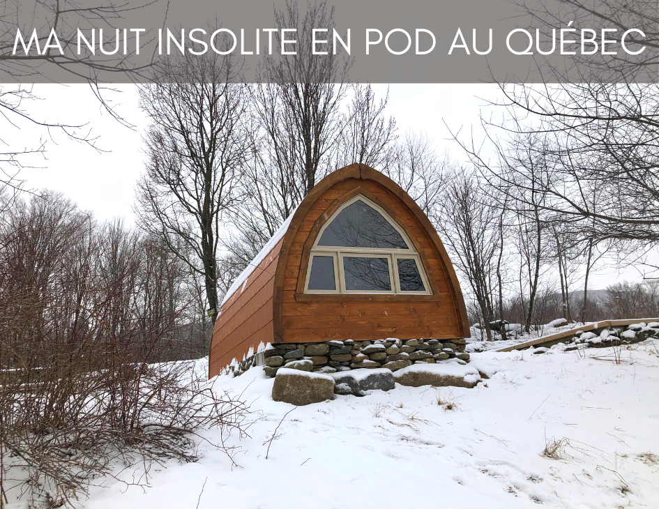 Un refuge pod sous la neige au diable vert à sutton